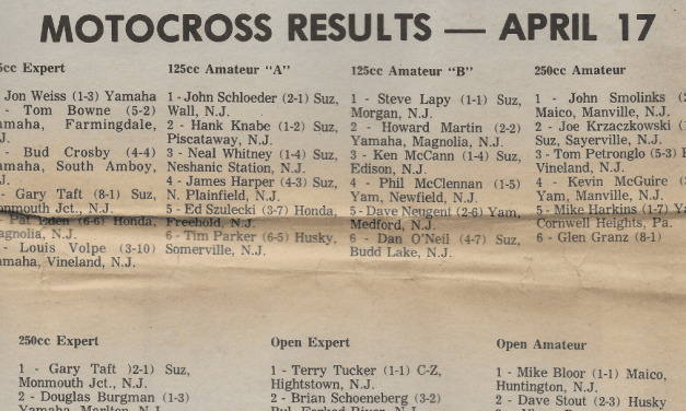 Raceway Park Results from April 17, 1977