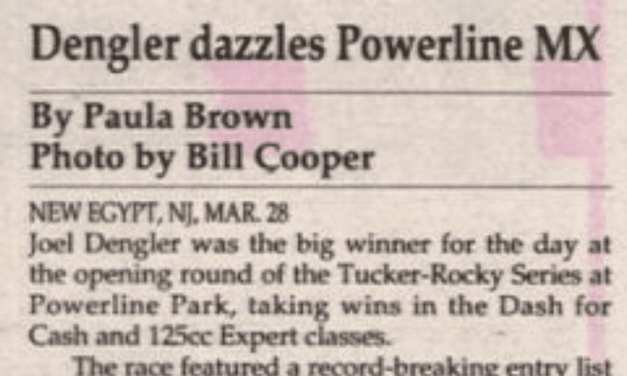 Powerline Park Results from 3/28/93