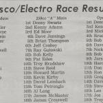 BESSCO – ELECTRO RACE RESULTS – RACEWAY PARK 1978
