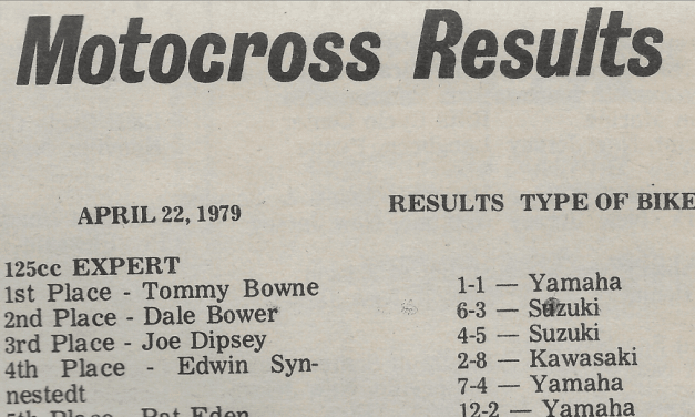 RACEWAY PARK RESULTS FROM 4/22/79