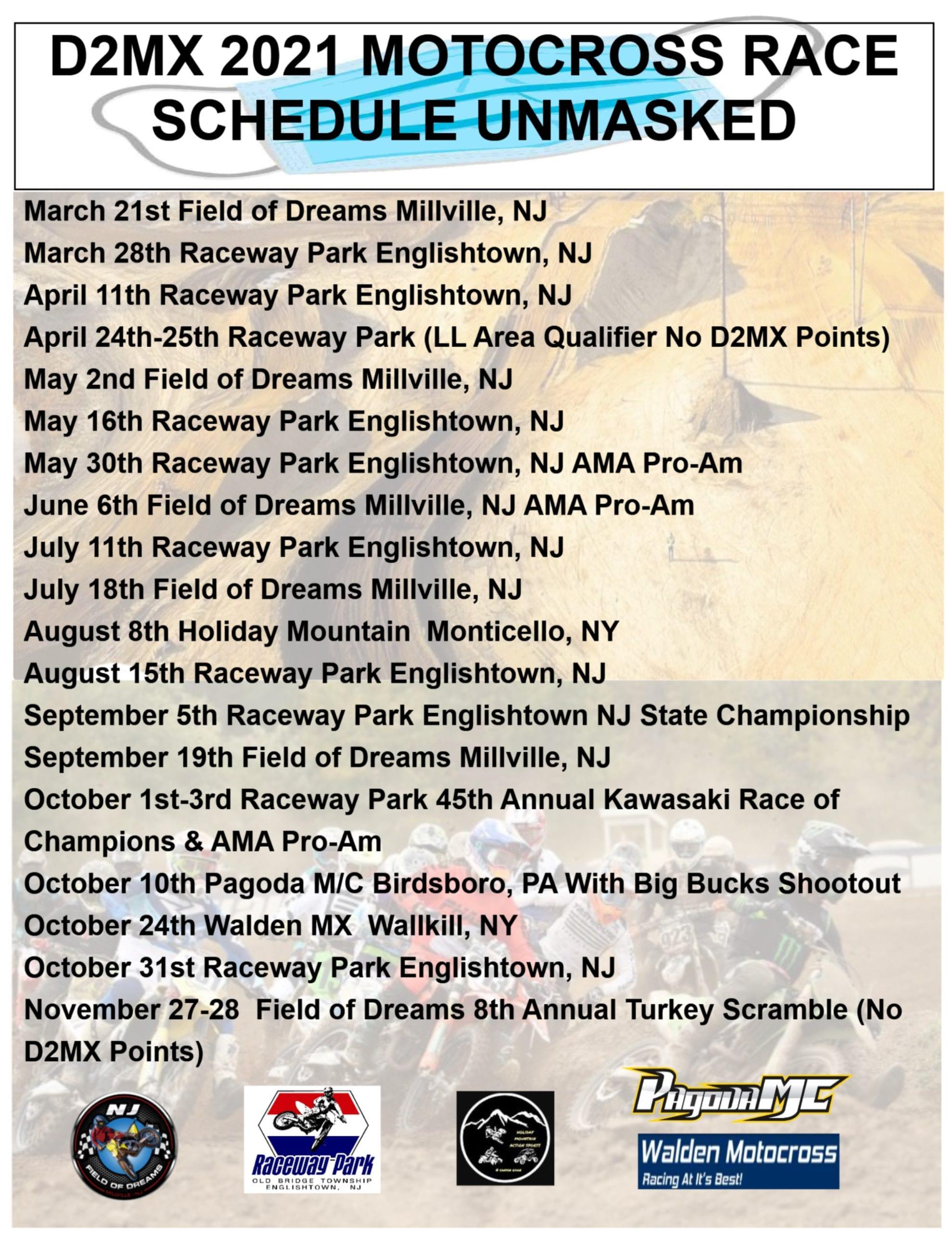 D2MX 2021 Schedule