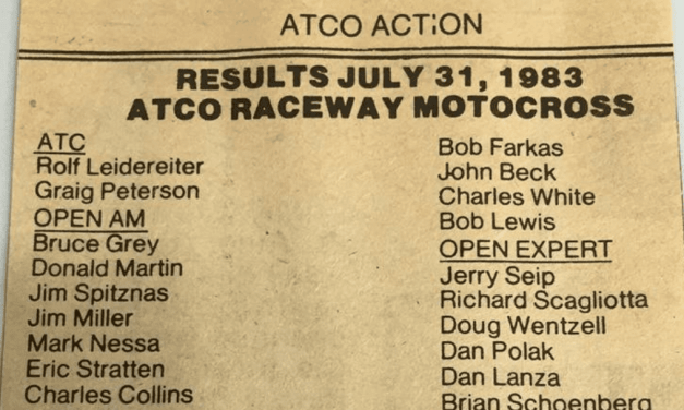 Atco MX Results from 7/31/83