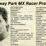 Raceway Park Racer Profiles – 1989