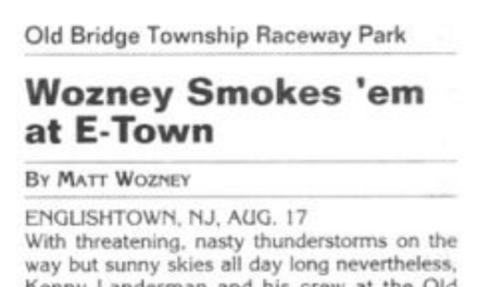 Raceway Park Results from 8/17/03