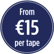 Transfer VHS video tapes to dvd or digital file from €15