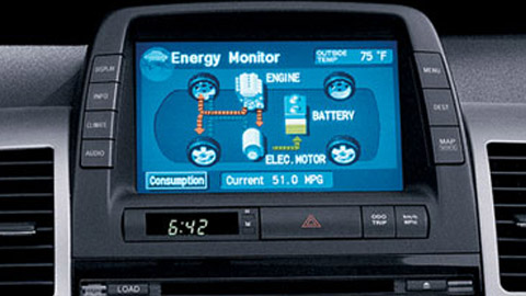 Tells you which way the energy is flowing, what is driving the car, Bluetooth phone and audio