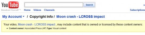 AP claims copyright on public domain video on YouTube