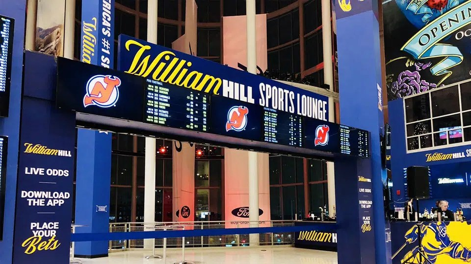 The NHL Devils host opening of new William Hill sports lounge