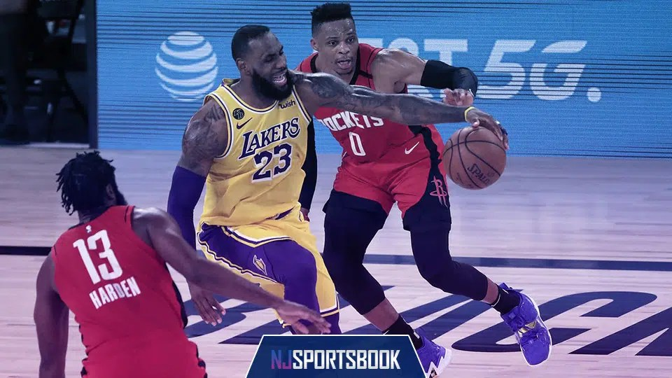 The Los Angeles Lakers take on the Houston Rockets in Game 5 of their Western Conference semifinal series on Saturday.