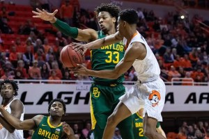 The No. 2 Baylor Bears take on the No. 12 Oklahoma State Cowboys in a Big 12 tournament semifinal contest on Friday.