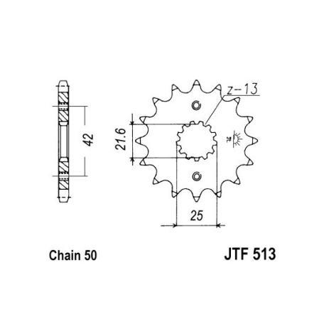 Set lanac + lančanici Suzuki GSF 1250 S Bandit (ABS) 07-09