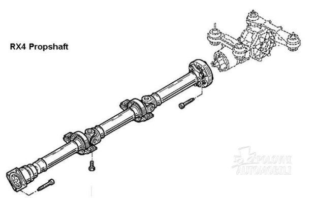 Renault Scenic Megane Rx4 kardan
