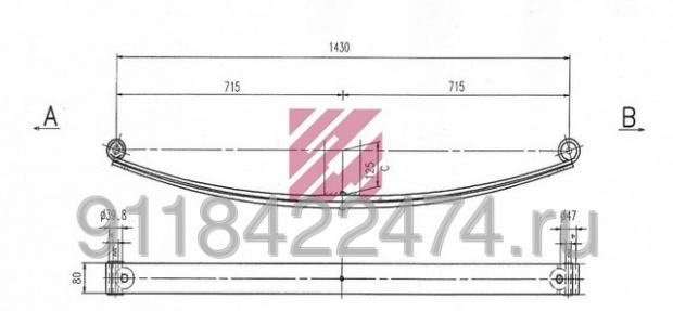 Lisnata opruga Peugeot Boxer Citroen Jumper Fiat Ducato