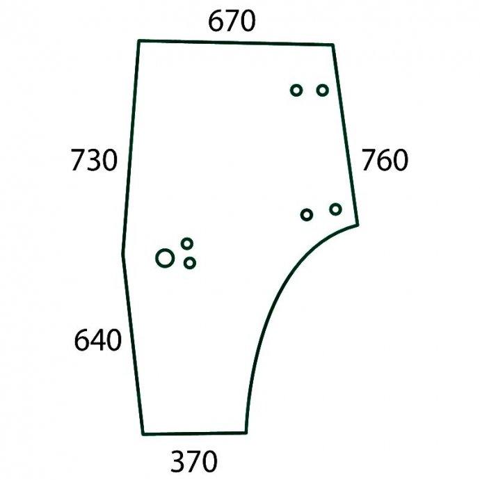 Staklo vrata Deutz Fahr: Agroplus 60, 70, 75, 80, 85, 95