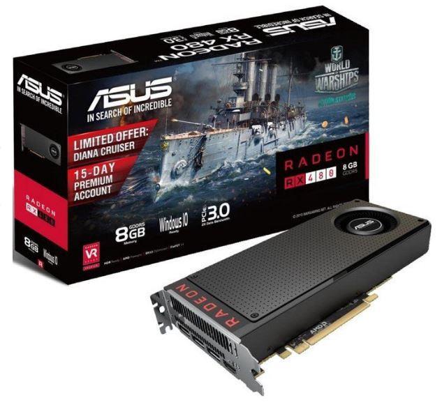 ASUS Radeon RX480-8G. 8GB GDDR5. HDMI. 3x DisplayPort. R1 RAČUN