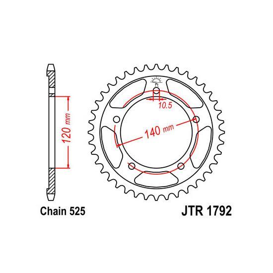 Set lanac + lančanici Suzuki DL 1000 V-Strom 02-10
