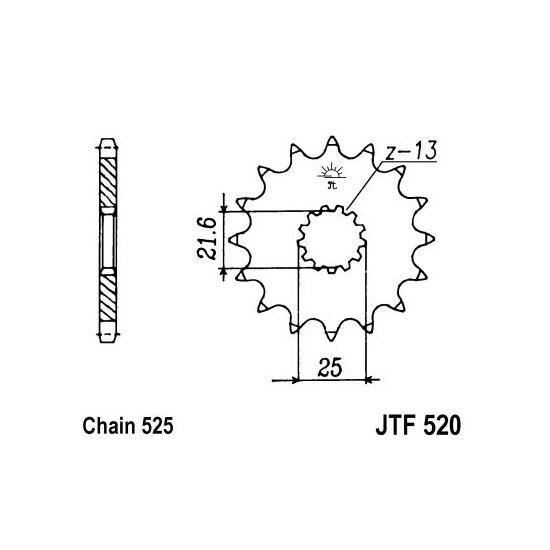 Set lanac + lančanici Yamaha TDM 850 99-01