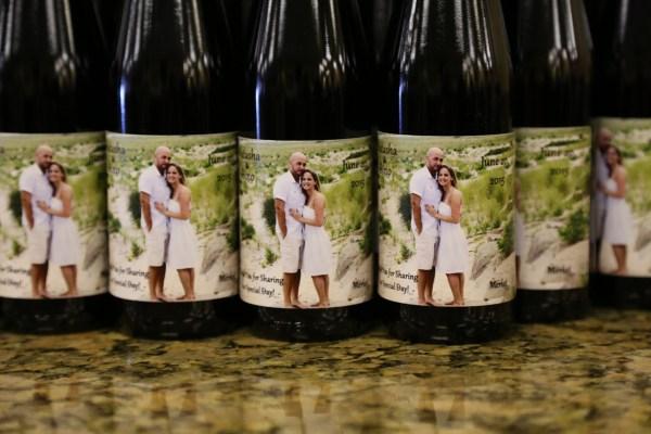 Custom Wine Bottle Wedding Favors Winery