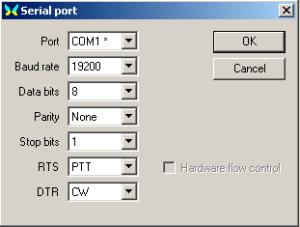 MixW Serial Port Setup
