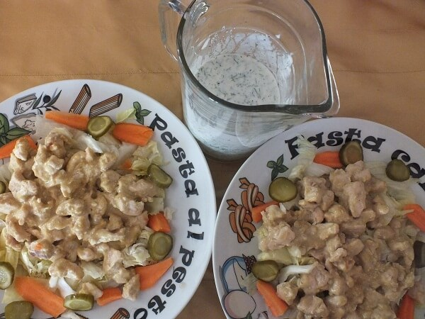 Körili Tavuk Salatası Tarifi