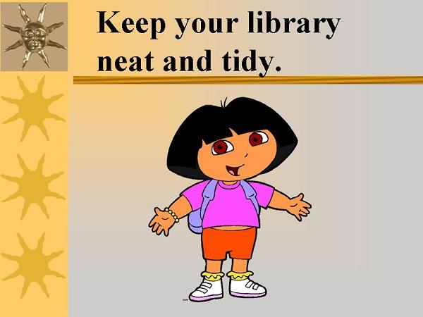 Resimli İngilizce Kütüphane Kuralları (Library Rules)