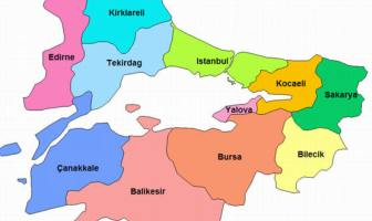 Marmara Bölgesi İlleri - Marmara Şehir Haritası