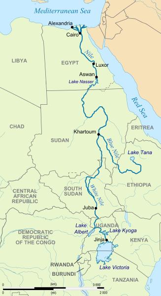 Nil Nehri Haritası