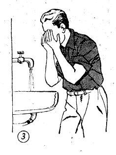 3-Yüz üç kere olmak üzere yıkanır.