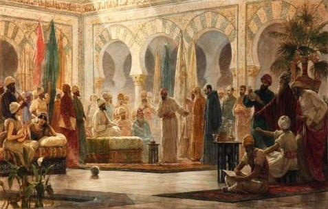 Üçüncü Abdurrahman'ın Medinetü'z-Zehra Sarayında resmedilmesi - Dionisio Baixeras Verdaguer