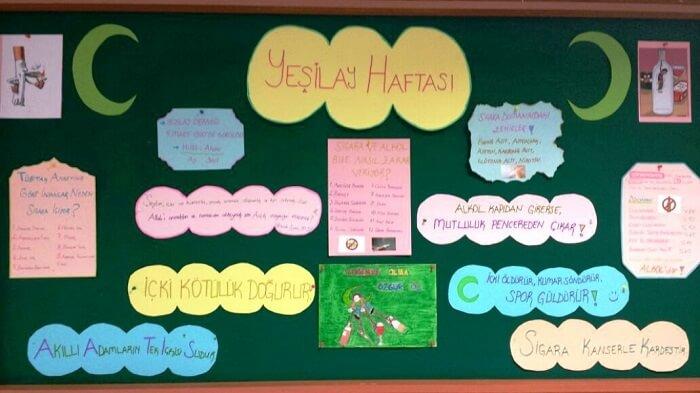 Yeşilay Haftası Pano Çalışmaları