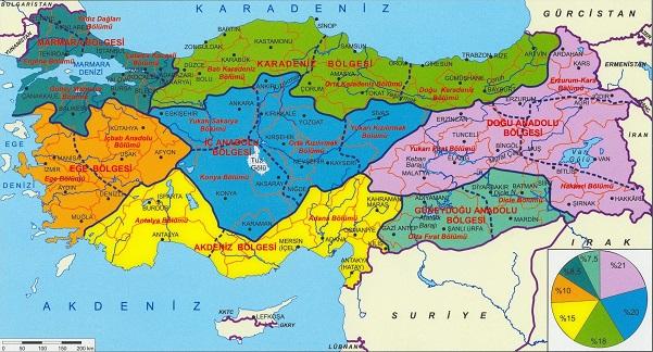 Türkiye'nin Coğrafi Haritası