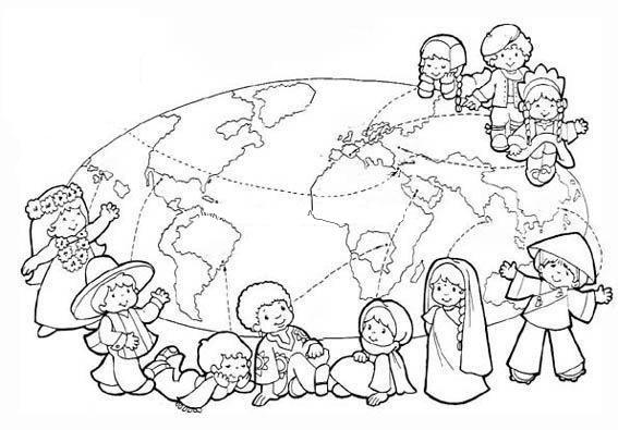 Dünya Çocuk Günü Boyama Sayfaları