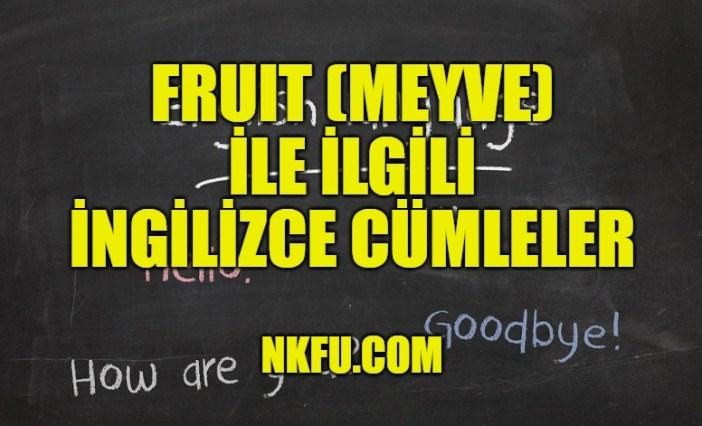 Fruit (Meyve) İle İlgili İngilizce Cümleler