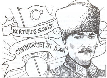 29 Ekim Cumhuriyet Bayrami Kompozisyon Yazisi