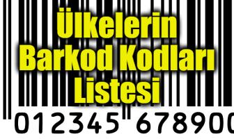 Ülkelerin Barkod Kodları Listesi