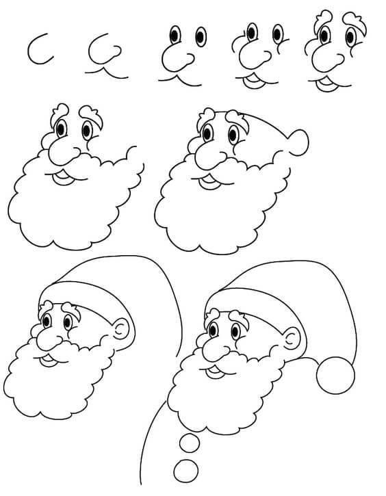 Noel Baba Nasıl Çizilir? Adım Adım Kolay Noel Baba Çizimi