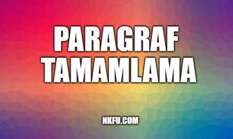 Paragraf Tamamlama