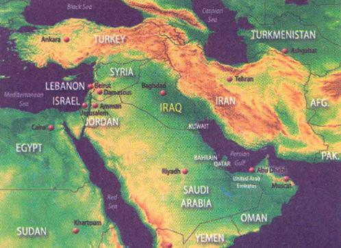 Ortadoğu Haritası