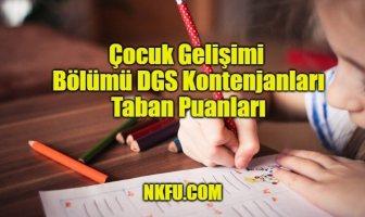 Çocuk Gelişimi Bölümü DGS