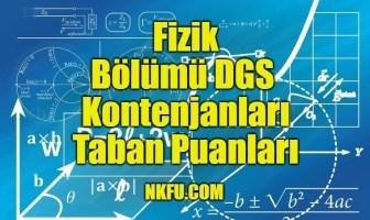 Fizik Bölümü DGS