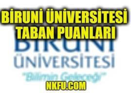 Biruni Üniversitesi Taban Puanları 2019
