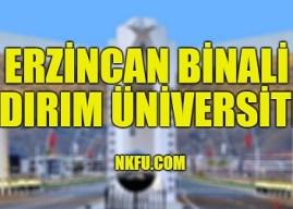 Erzincan Binali Yıldırım Üniversitesi 4 Yıllık Bölümleri Taban Puanları 2020