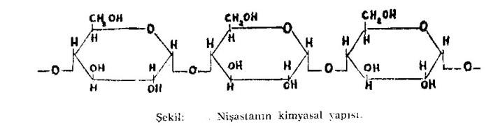 nişasta kimyasal yapısı