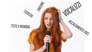 cantare vocalizzi voce esercizio riscaldamento