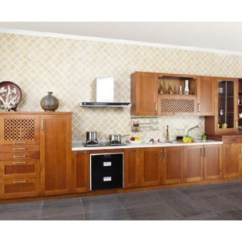 Wood Kitchen Set Work Tops Solid Cabinet Supplier Oak House Prefabricated Furniture Kc 4020