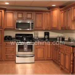 Solid Wood Kitchen Sets Organizing Cabinets Customized Traditional Furniture Cabinet Kc 4040