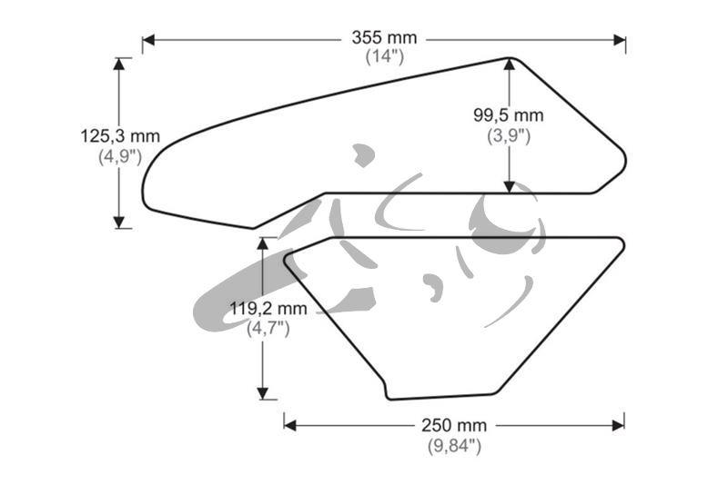 Puig Tank Grips Honda CBR 1000 RR