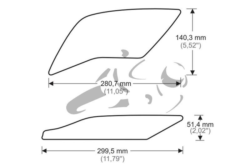 Puig Tank Grips Yamaha R1
