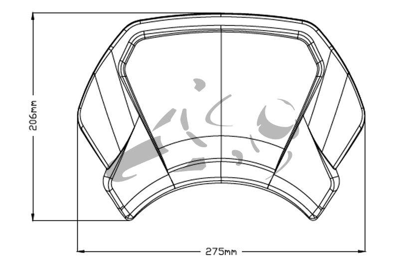 Puig Frontplatte Aluminium Honda CB 650 R