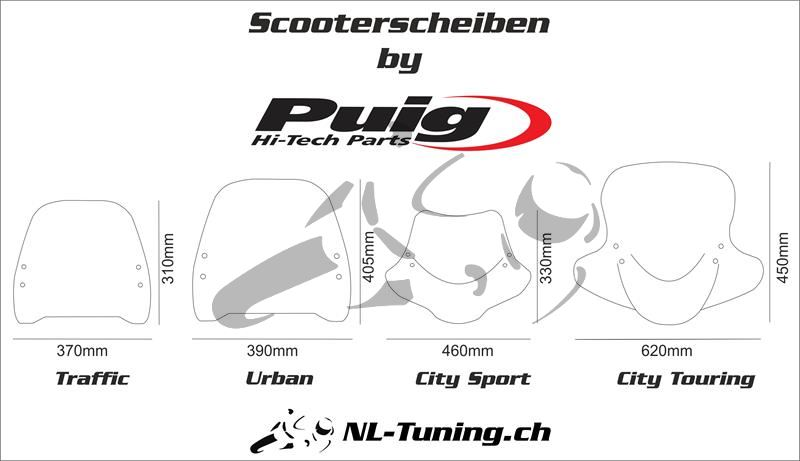 Puig Scooterscheibe Trafic Yamaha Neo's